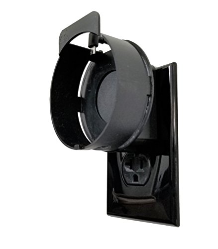 The Deluxe Mount for 2nd Gen by Dot Genie: The Simplest and Cleanest High-End Outlet Wall Mount Hanger Stand for Kitchen and Bathroom Speakers - Designed in USA (Black)
