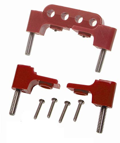 Taylor Cable 42721 Red Horizontal Mounting Bracket for Clamp Style Wire Separators (Kit Loom Wire Horizontal)