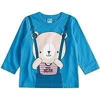 Camiseta Bito Primeiros Passos em Meia Malha Inverno Manga Longa