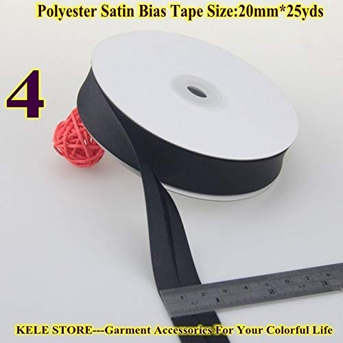 DalaB -Polyester Satin Bias Binding Tape,bias Binding Size:20mm,3/4