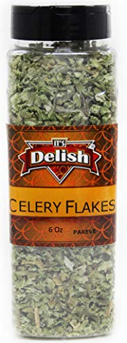 Dried Celery Flakes - Stalk & Leaf by Its Delish, 6 Oz Large Jar