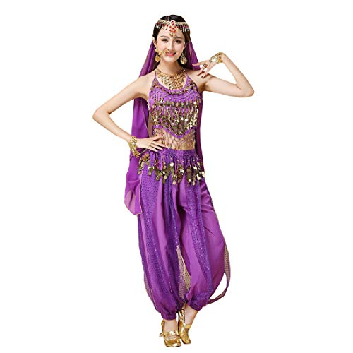 Maylong Girls Halter Top Indian Dance Outfit