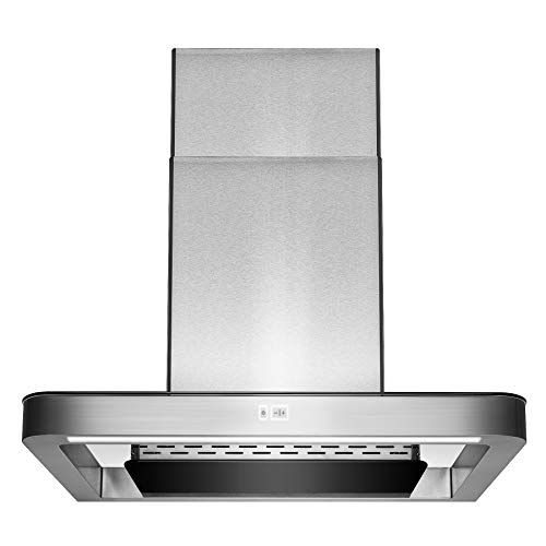 AKDY 30 Wall Mount Stainless Steel Push Panel Kitchen Range Hood Cooking Fan