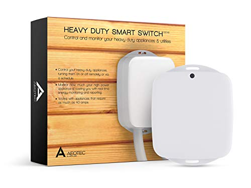 (Aeotec Heavy Duty Smart Switch, Z-Wave Plus Home Security ON/OFF controller, 40 amps record electricity consumption)