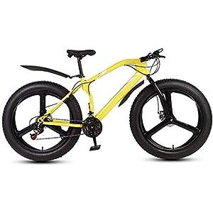 41nLtbw09qL. SS300 WJJH Mountain Bike per Adulti con Pneumatici Grassi, Bici da Neve Bionic con Forcella Anteriore, Bici da Crociera con Freno a Doppio Disco, Ruote da 26 Pollici