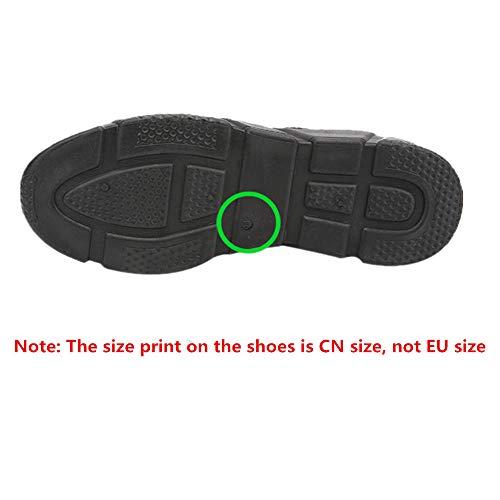 Mujer Respirable Deportivas Zapatillas Deportes con Cordones Negro Running Gym Zapatos para QinMM d5tqnrAq