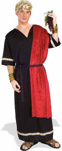 Forum Novelties Men's Roman Senator Costume, Black/Red, (Roman God Costumes)