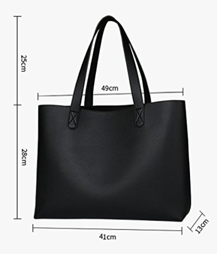 Black Travel PU Bags Bags Leisure Large capacity Bag Women's Messenger Shopping 6vOqBIB