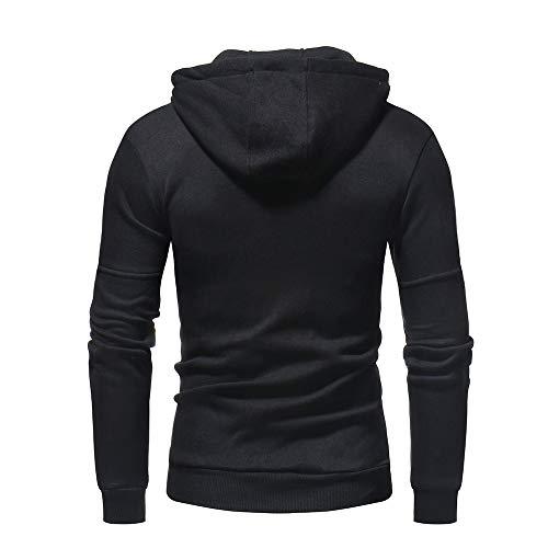 Polaire Noir Manteau Hivers Tonsi Chaud Sweatshirt Capuche Homme Éclair Fermeture nSzWqgfxH