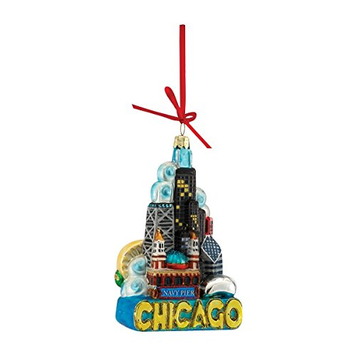 Chicago Gift (Kurt Adler Chicago Glass Ornament,)