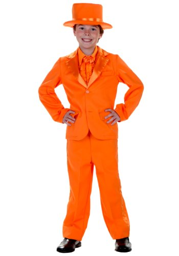 Child Orange Tuxedo Costume - L -