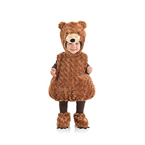 Teddy Bear Plush Belly Toddler Costume Medium Color Brown  sc 1 st  Amazon.com & Teddy Bear Costume for Baby: Amazon.com