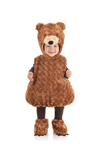 Underwraps Baby's Teddy Bear Belly, Brown, X-Large