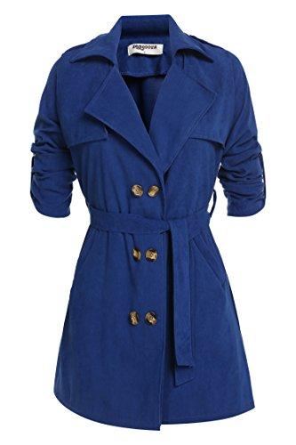 Notched Collar Shearling Coat - 8