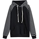 HOT ! Women Pullover, Ninasill Exclusive Striped Hooded Long Sleeve Casual Print Hoodie Sweatshirt Pullover