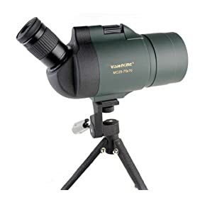 Visionking 25-75x70 Maksutov Spotting Scope 100%Waterproof Bak4 with Tripod(Green)