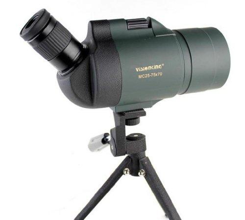 Visionking 25-75x70 Maksutov Spotting Scope 100%Waterproof Bak4 with Tripod(Green)