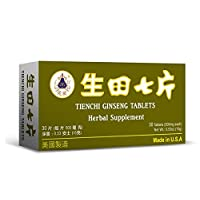 Tienchi Ginseng Tablets Herbal Supplement Helps for Promote Circulation & The Body's General Well Being 500mg 30 Tablets Made in USA