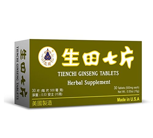 Tienchi Ginseng Tablets Herbal Supplement Helps For Promote Circulation & The Body's General Well Being 500mg 30 Tablets Made In USA For Sale