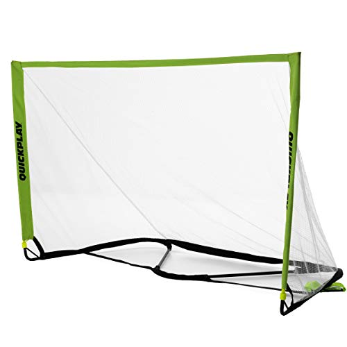 QuickPlay POP Goal 5 x 3' with Real Soccer Goal Mouth Shape - 10 Second Set-Up with Easy to Carry Slim Line Bag [Single Goal] - New for 2018 (Quickplay Pro Match Fold Portable Soccer Goal)