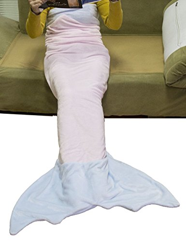LUXEHOME Knitting Flannel Mermaid Tail Blanket CHILD & ADULT Size Available (Adult 75 x (178 Bath)
