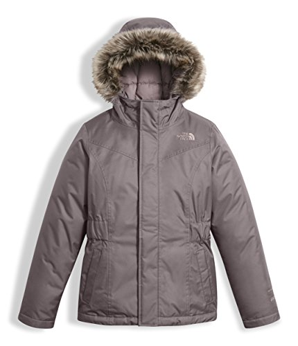 The North Face Girl's Greenland Down Parka - Rabbit Grey - XL (Past Season)