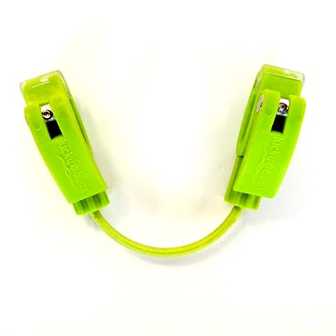 Lucky Bums Fall Line Easy Wedge Ski Tip Connector, Green (Edgie Wedgie And Harness)