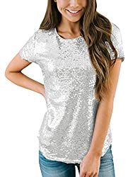 Women's Short Sleeve Sequin Tops