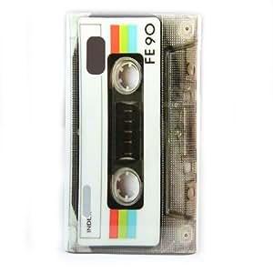 White Tape Cassette Hard Skin Case Cover for LG Optimus L5 E610 / E612 +1 pcs gift