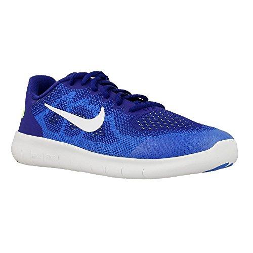 Nike Junior Tennis - Nike Kids Free RN 2017 Running Shoe (GS) (Deep Royal Blue/White-Soar, 4 M US Big Kid)