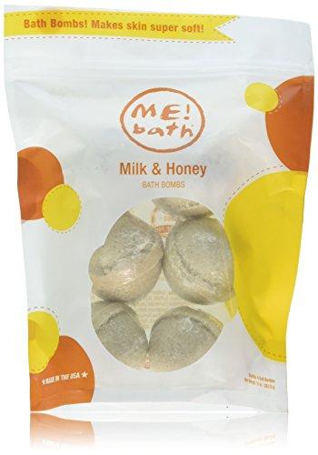 ME! Bath Handmade Mini Bath Bombs, Milk & Honey, Pack of 3