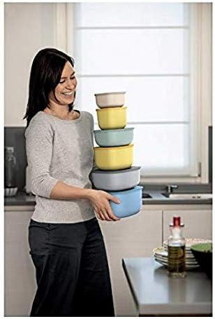 Guzzini, STORE&MORE - Dicht schließende Dosen für Kühlschrank/Gefrierschrank/Mikrowelle, niedrig (M) Kitchen Active Design, 16 x 16 x h7,8 cm