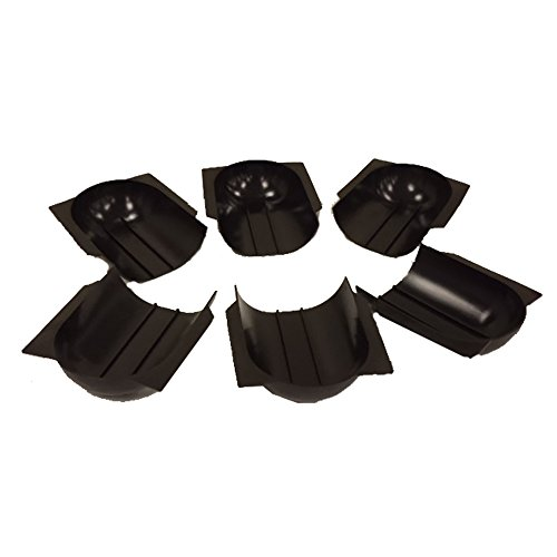 Valley Billiard Pool Table Gully Boots - Set of 6 (Pool Table Parts Accessories)