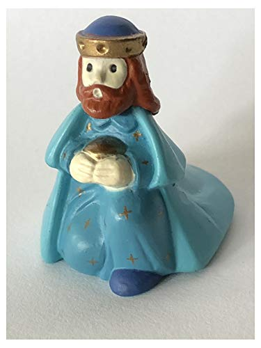 Hallmark Merry Miniature Nativity Blue King 1989 Christmas