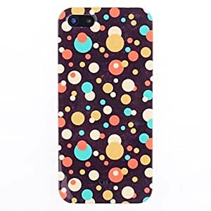 Zaki 2014 New Arrival Colorful Round Dots Pattern IMD Back Case for iPhone 5/5S