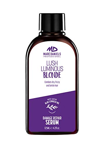 Purple Hair Repair Serum Treatment. Neutralize Brassy Yellow Tones, Detangle & Defreeze. For Blonde, Color Treated, Gray Hair. Blue Cypress and Moroccan Argan Oil (Marc Anthony Oil Of Morocco Shampoo Review)
