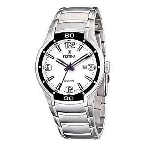 Festina F16487/1 - Reloj analógico de cuarzo para hombre con correa de acero inoxidable, color plateado