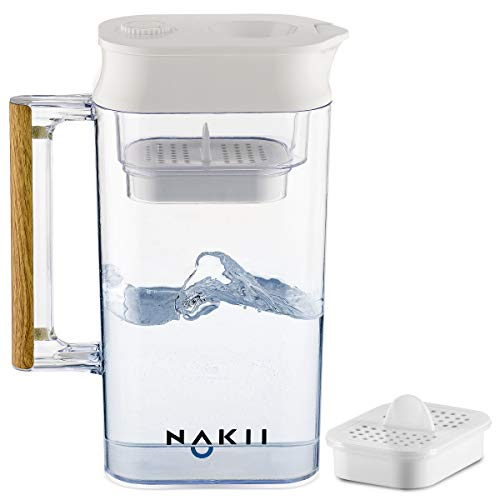 Nakii Long-Lasting Water Filter Pitcher Fast Filtering with Patented ACF Military Technology