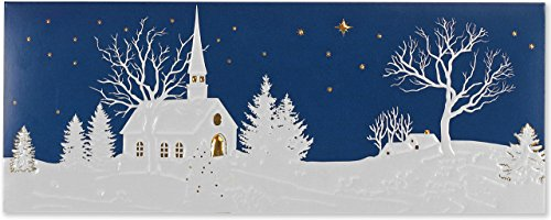 Silent Night Panoramic Boxed Holiday Cards (Christmas Cards, Greeting Cards) (Night Boxed Cards Christmas)