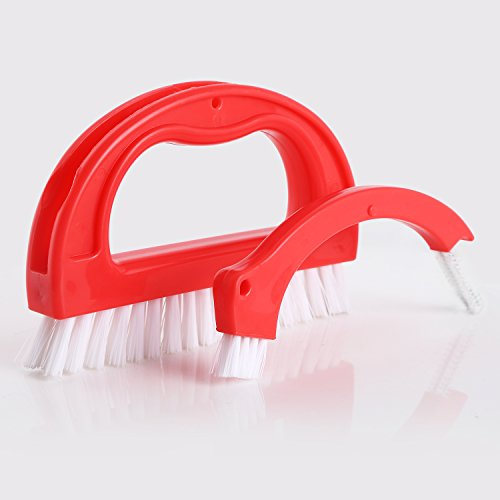 HIWARE Grout Cleaner Brush - Tile Joint Cleaning Scrubber Brush with Nylon Bristles - Great Use for Bathroom, Shower, Floors, Kitchen and Other Household