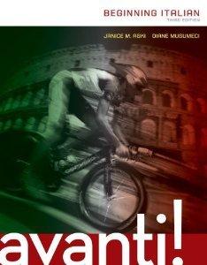 Avanti! Beginning Italian, Third Edition (With Accompanying Workbook)