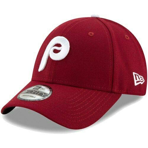 (New Era Philadelphia Phillies 2019 Alt2 9FORT 940 Adjustable Cap Hat Maroon)