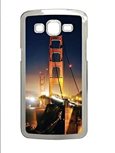 Golden Gate At Night Custom Samsung Grand 7106/2 Case Cover Polycarbonate Transparent by mcsharks