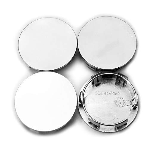 4pc 65mm/59mm Car Wheel Center Hub Caps for 2M5Z-1130-AA F-150 Mustang Focus Silver