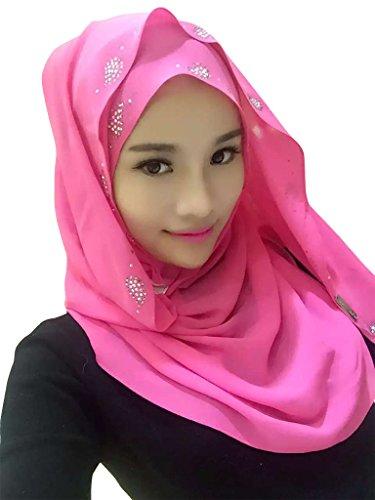Ababalaya-Womens-Chiffion-Hotfix-Rhinestone-Hijab-Scarf-Shawl