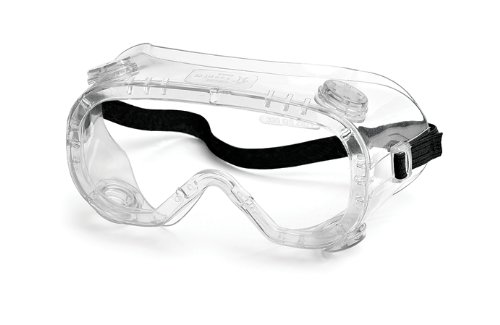 Gateway Safety 32392 Traditional Technician Splash Safety Goggle, 390 Cap Vent, Clear Anti-Fog Lens ()