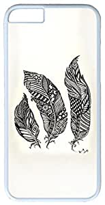 Abstract Art Feather Case for iPhone 6 Plus 5.5 inch PC Material White (Compatible with Verizon,AT&T,Sprint,T-mobile,Unlocked,Internatinal) in GUO Shop