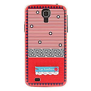 HP DFRed Stripes with Laces Pattern Hard Case for Samsung Galaxy S4 I9500