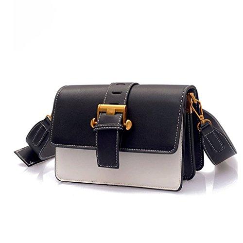 Bolsa señora femenino Black white portátil Bolsas de GJ Color bandolera color White la moda pequeña bandolera Bolso de ocio Black de de Bolsas Bolso bolsa viaje xfSwYwAqT0