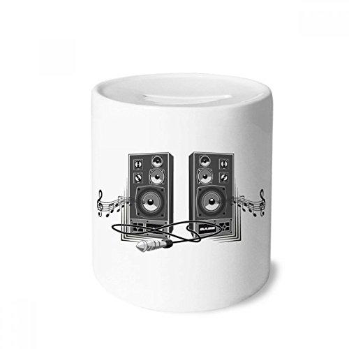 - DIYthinker Song Music Loudspeaker Box Pattern Money Box Saving Banks Ceramic Coin Case Kids Adults